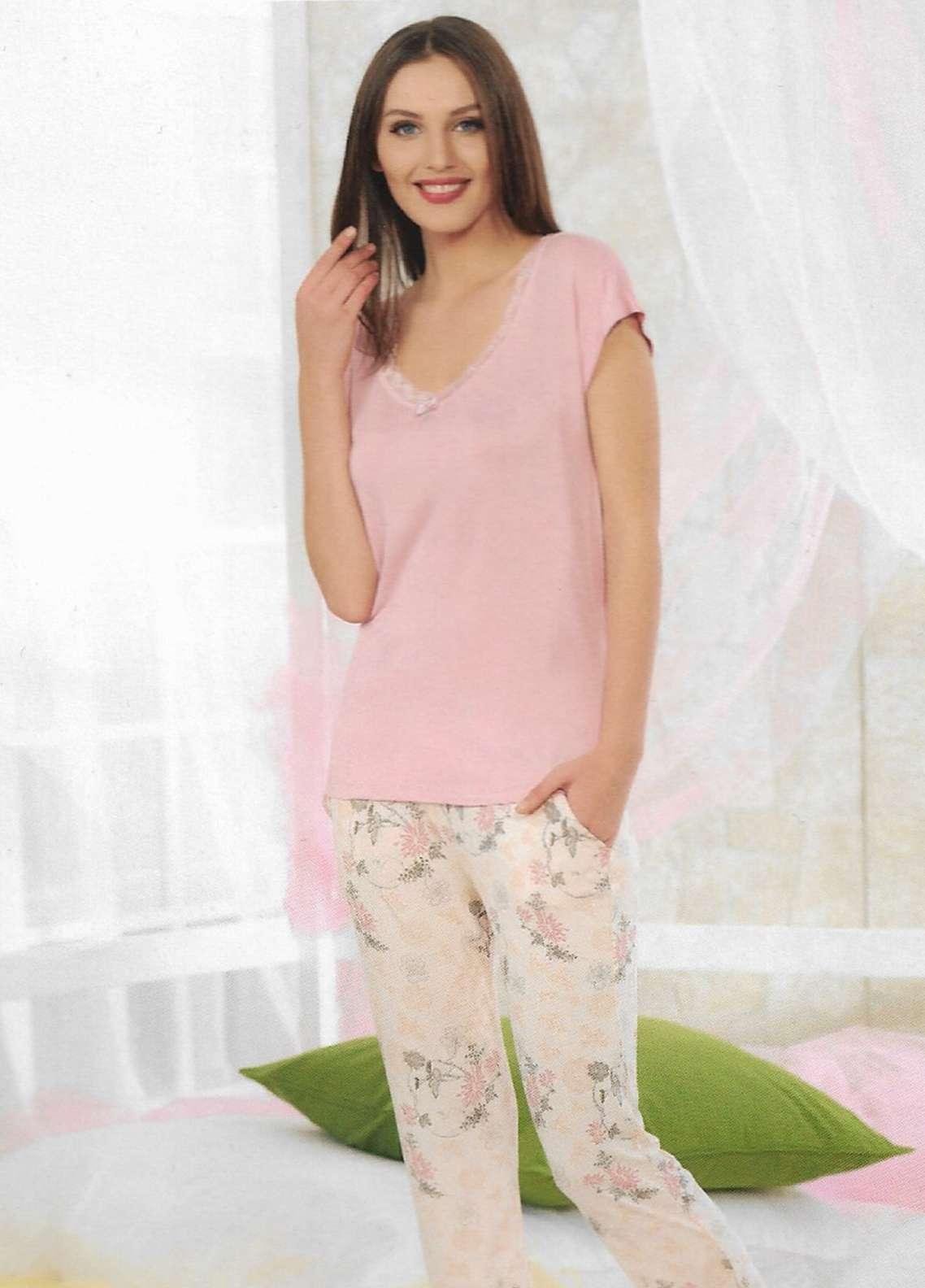 Cotton Net Nightwear for Women 2 Piece NS18W 10806 PINK