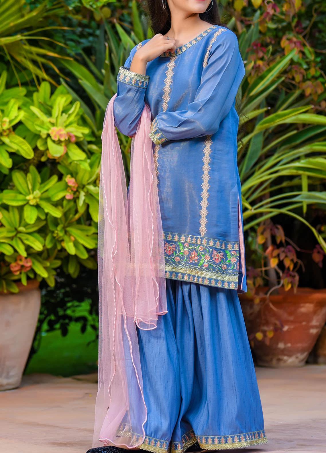Ochre Missouri Fancy Girls 3 Piece Suit -  OFW 285 Blue