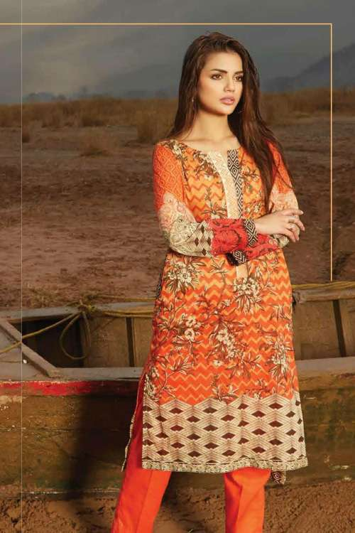 Oaks Embroidered Lawn Unstitched Kurtis OK17L 270A