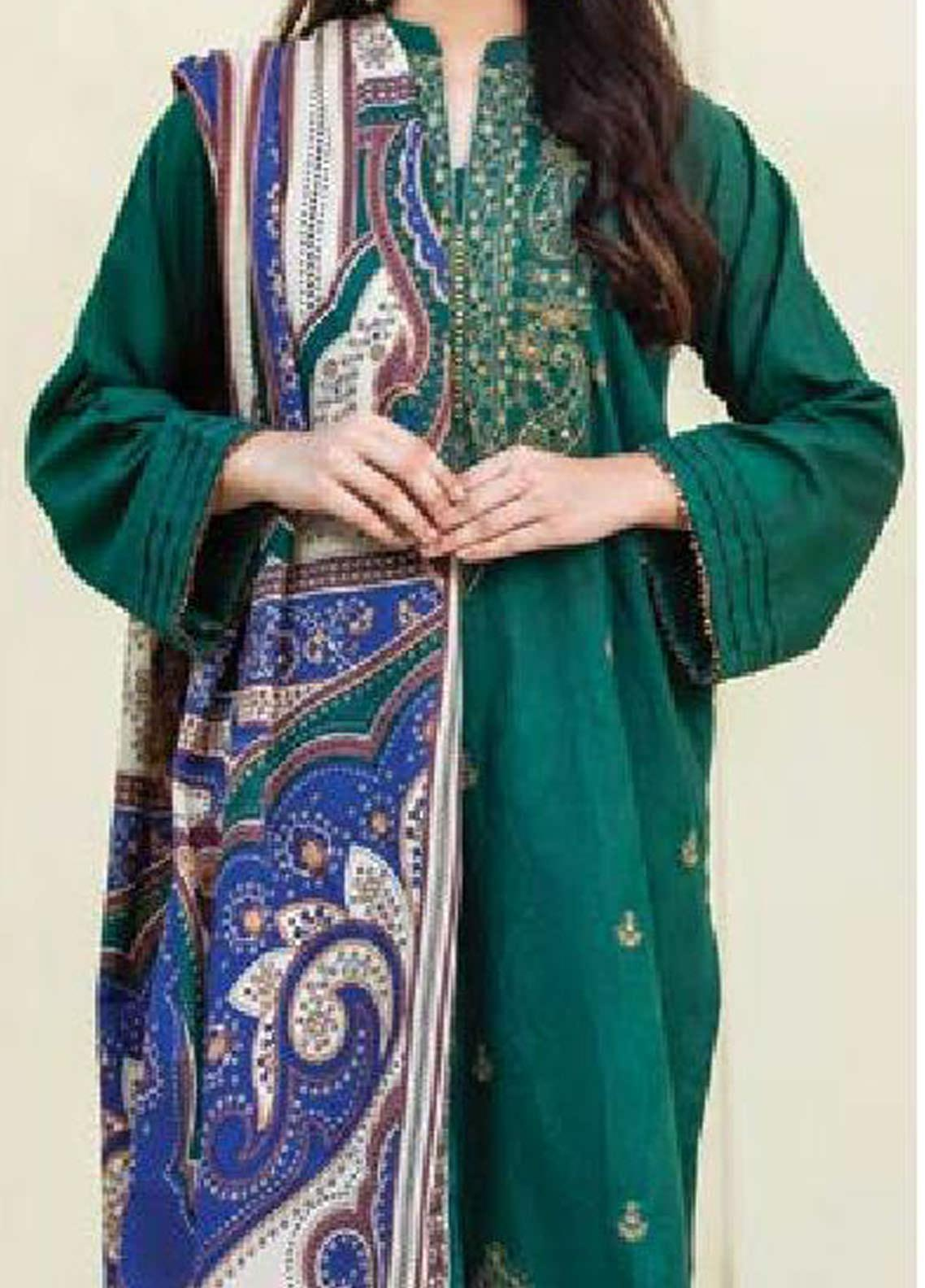 MYSA by Orient Embroidered Karandi Unstitched 3 Piece Suit OT20-MW2 187 A - Winter Collection