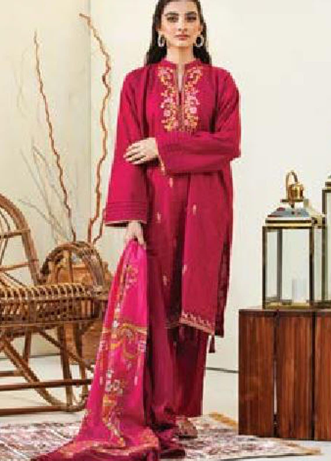 MYSA by Orient Embroidered Karandi Unstitched 3 Piece Suit OT20-MW2 188 A - Winter Collection