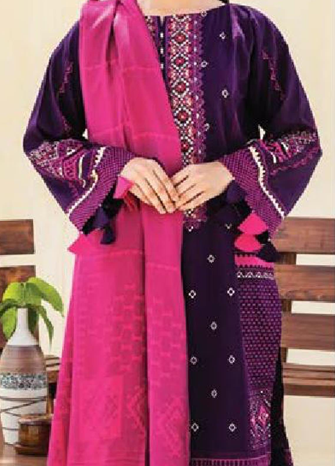 MYSA by Orient Embroidered Cottel Linen Unstitched 3 Piece Suit OT20-MW2 214 A - Winter Collection
