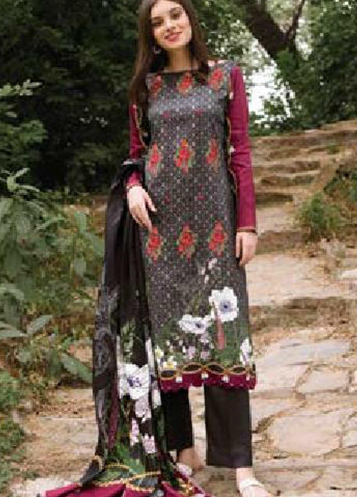 MYSA by Orient Embroidered Cottel Linen Unstitched 3 Piece Suit OT20-MW2 217 A - Winter Collection