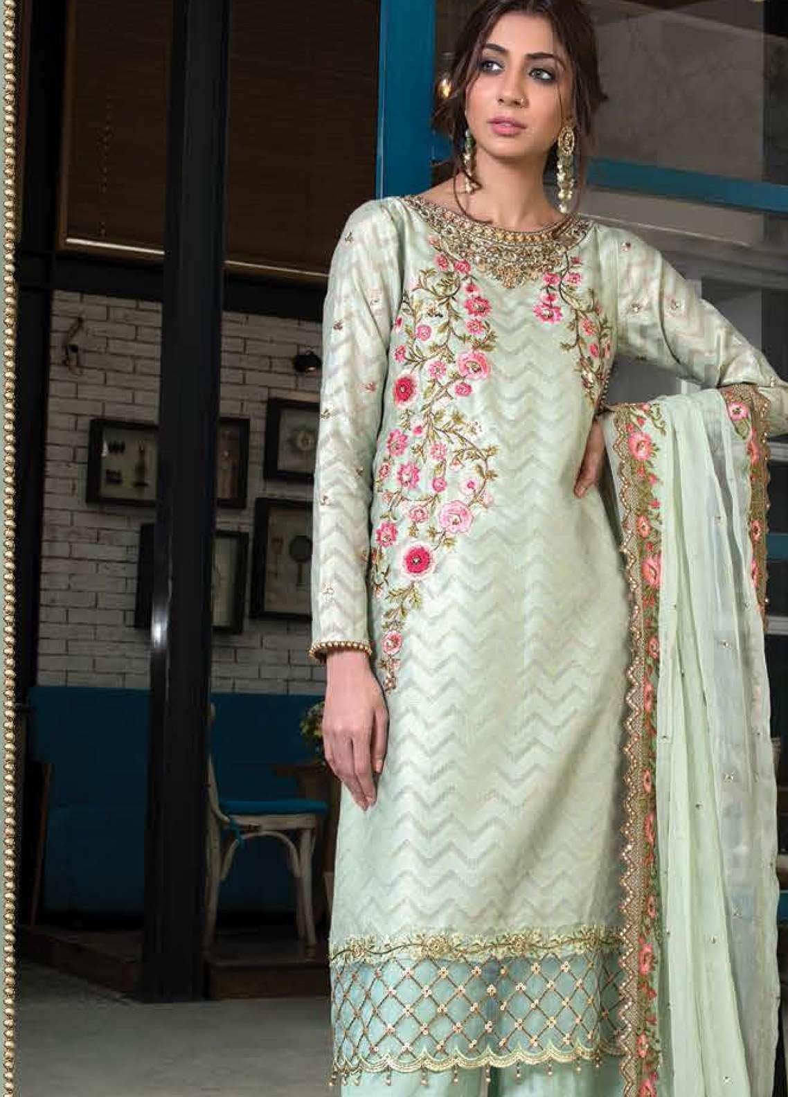 Orient Textile Embroidered Silk Unstitched 3 Piece Suit OT19F 173 - Premium Formal Collection