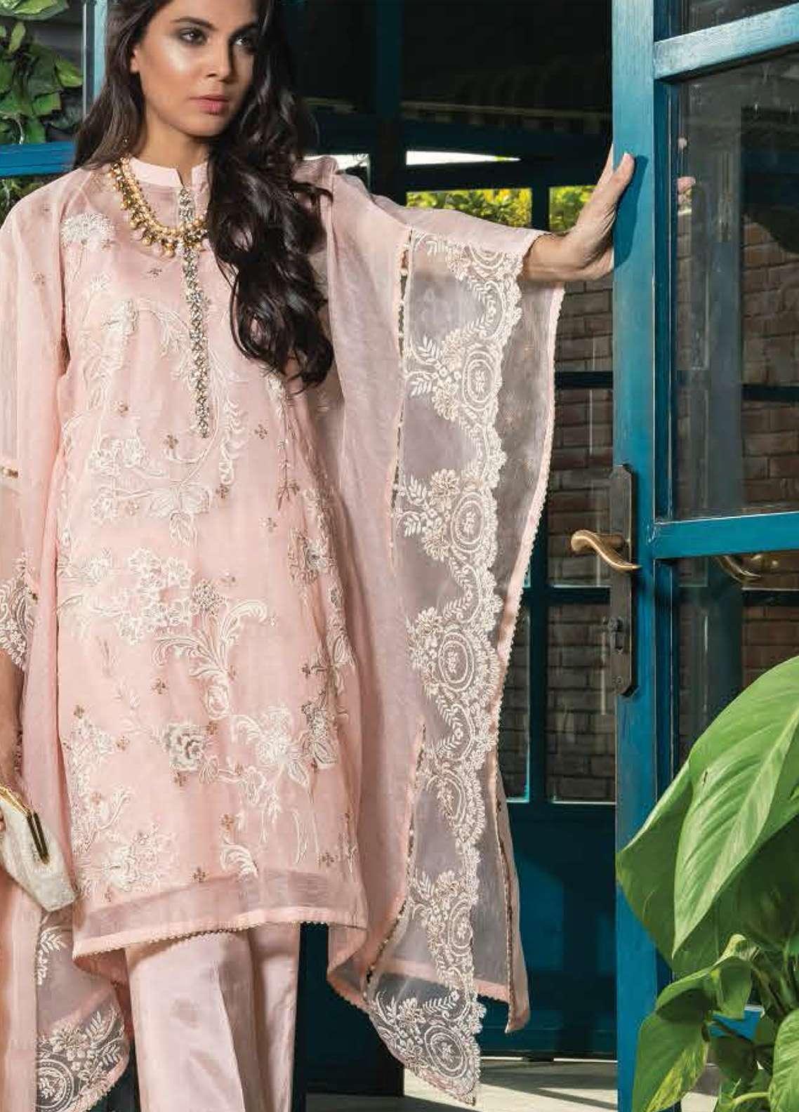Orient Textile Embroidered Silk Unstitched 3 Piece Suit OT19F 174 - Premium Formal Collection