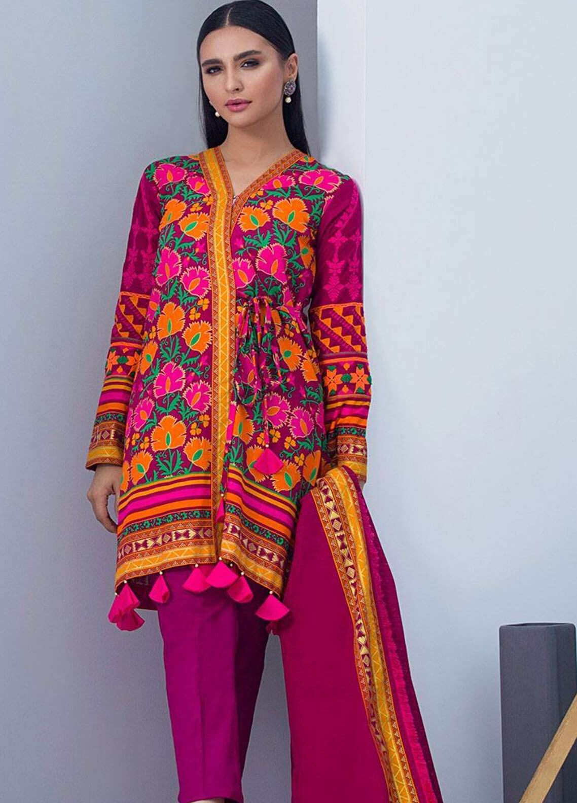 Orient Textile Embroidered Khaddar Unstitched 3 Piece Suit OT18W 219B Mesmerize - Winter Collection