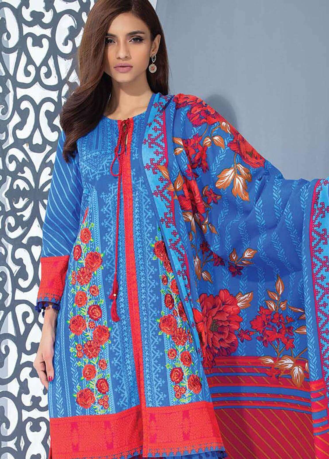 Orient Textile Embroidered Karandi Unstitched 3 Piece Suit OT18W 236B Persia - Winter Collection