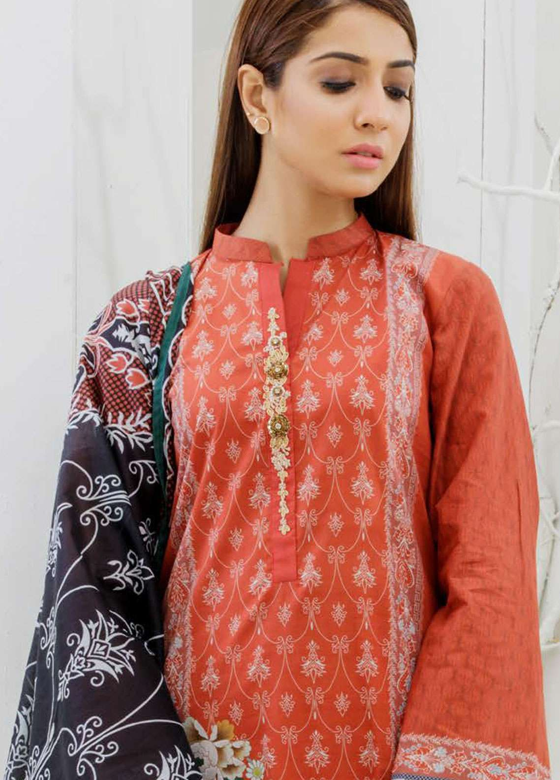 Orient Textile Embroidered Lawn Unstitched 3 Piece Suit OT19-L2 107 A - Spring / Summer Collection