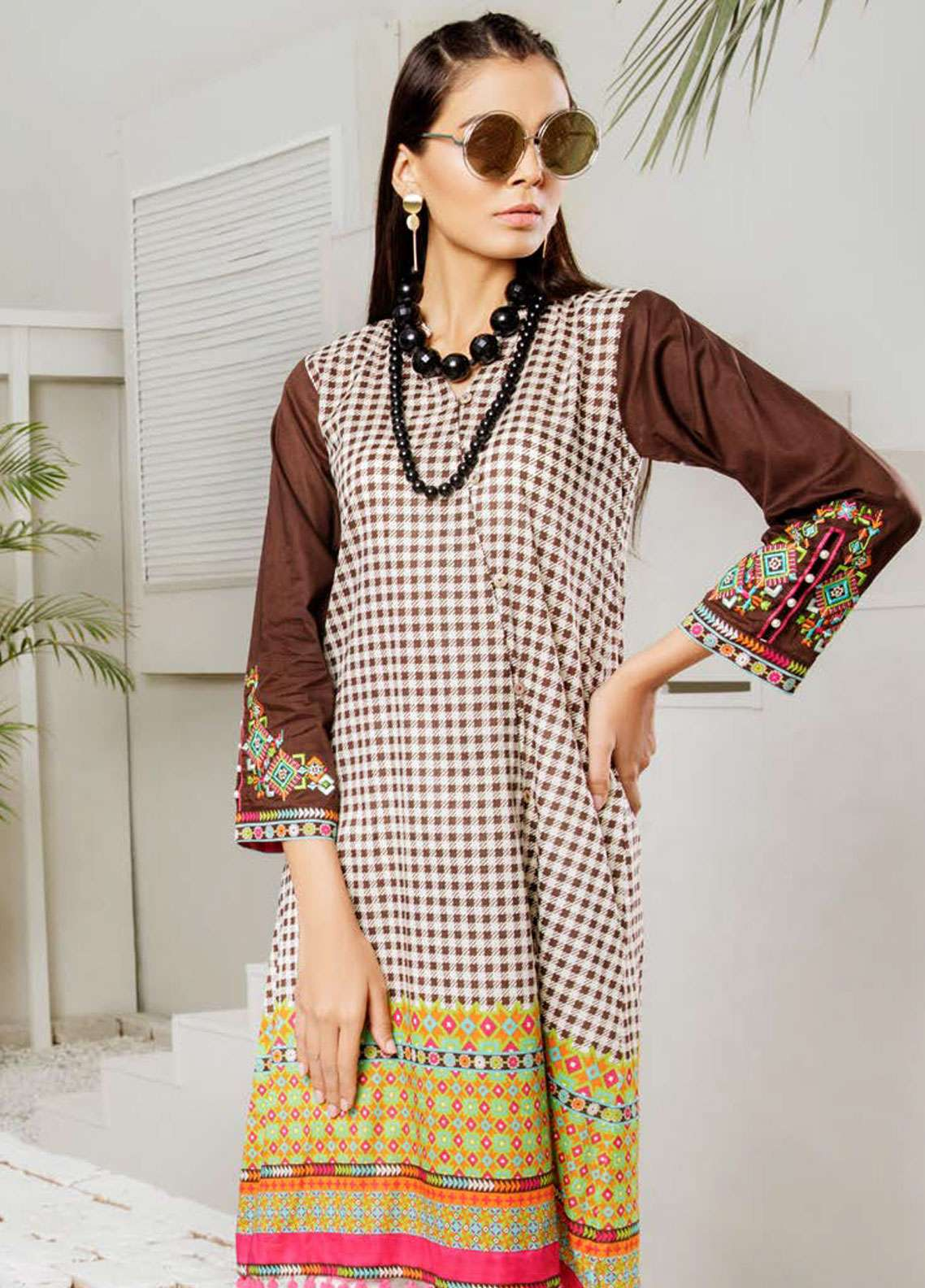 Orient Textile Embroidered Lawn Unstitched Kurties OT19-L2 115 B - Spring / Summer Collection