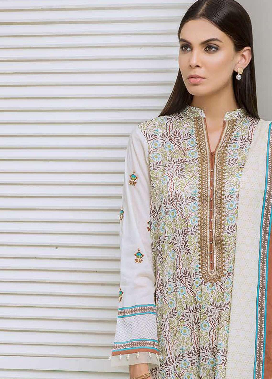 e4c0ad0e40 Orient Textile Embroidered Lawn Unstitched 3 Piece Suit OT19-L2 117 B -  Spring / Summer Collection