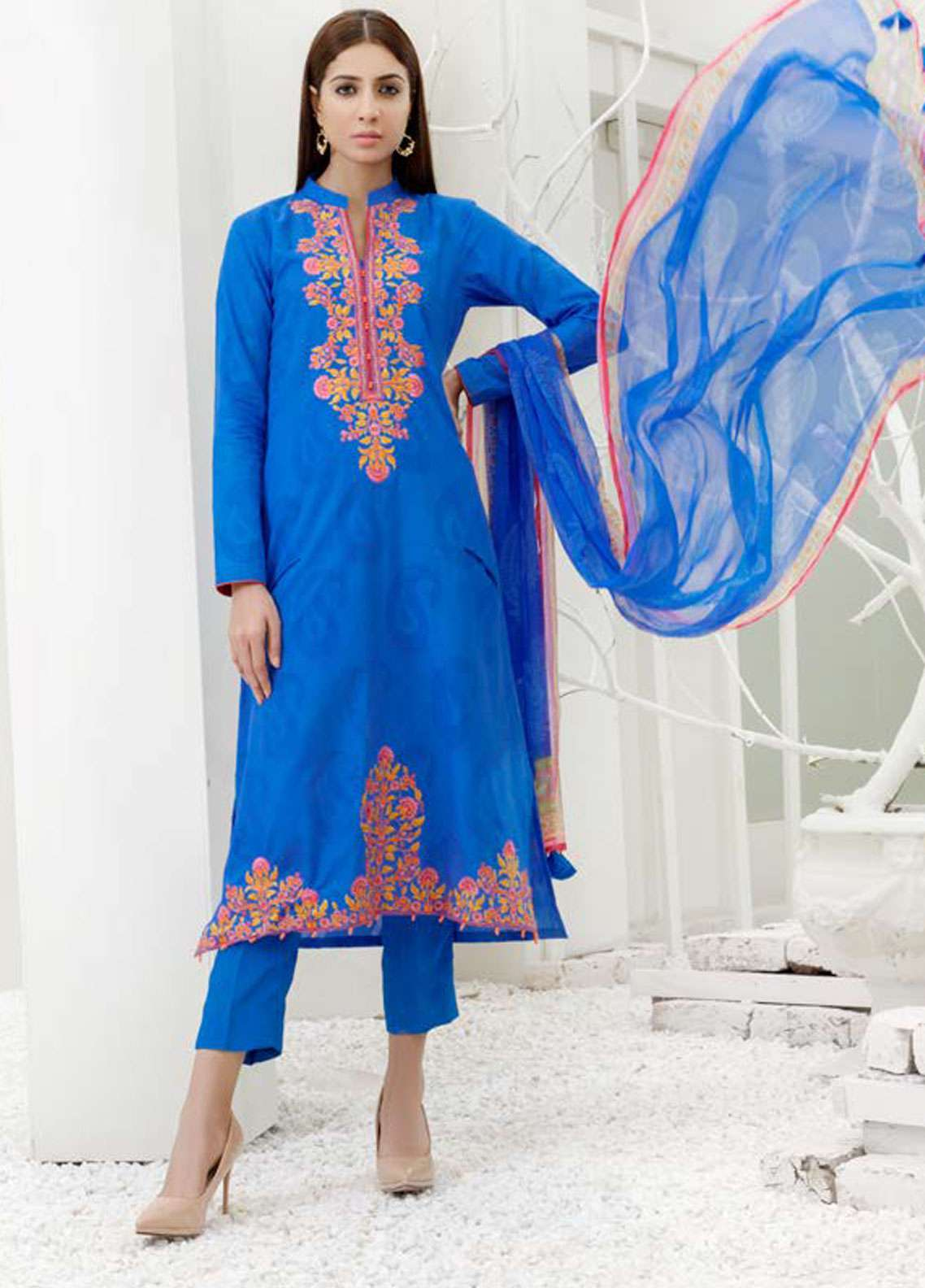 Orient Textile Embroidered Jacquard Unstitched 3 Piece Suit OT19-L2 137 A - Spring / Summer Collection