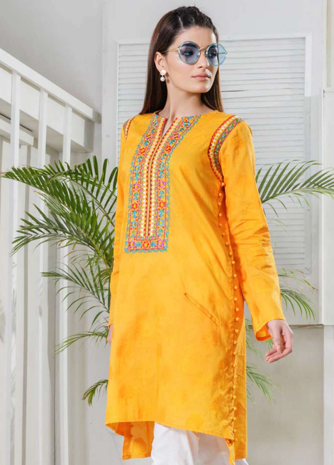 Orient Textile Embroidered Jacquard Unstitched Kurties OT19-L2 142 A - Spring / Summer Collection