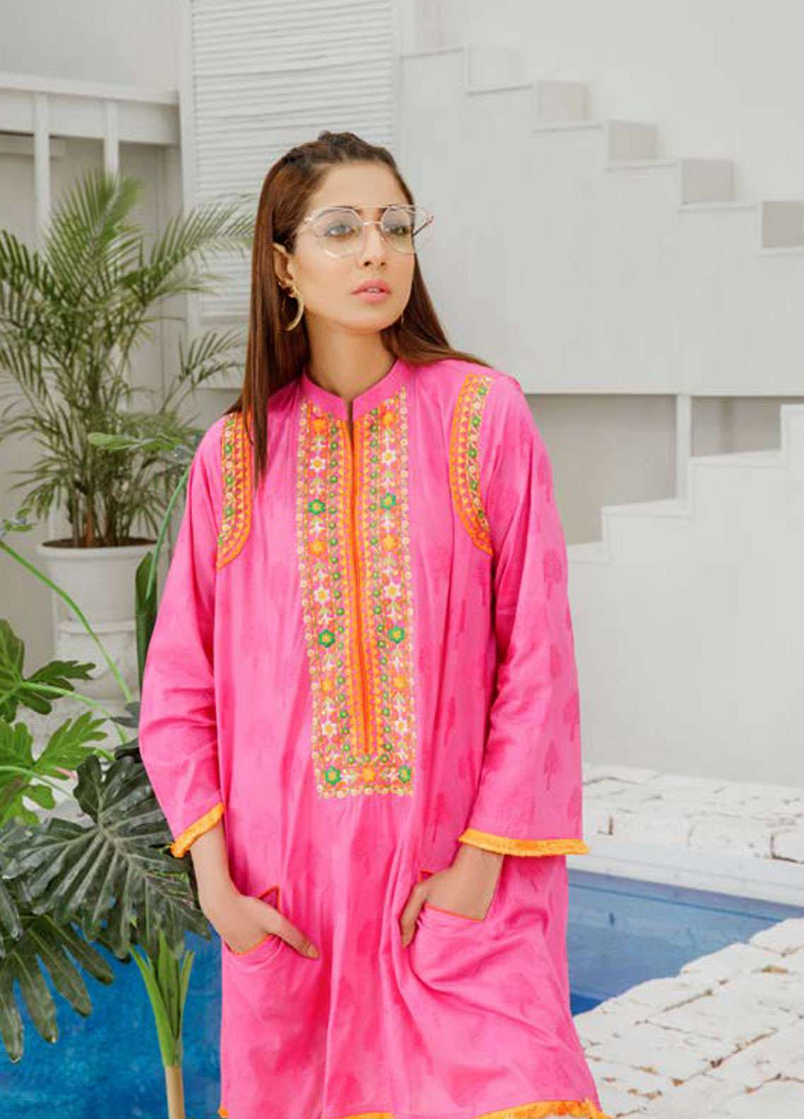 Orient Textile Embroidered Jacquard Unstitched Kurties OT19-L2 142 B - Spring / Summer Collection