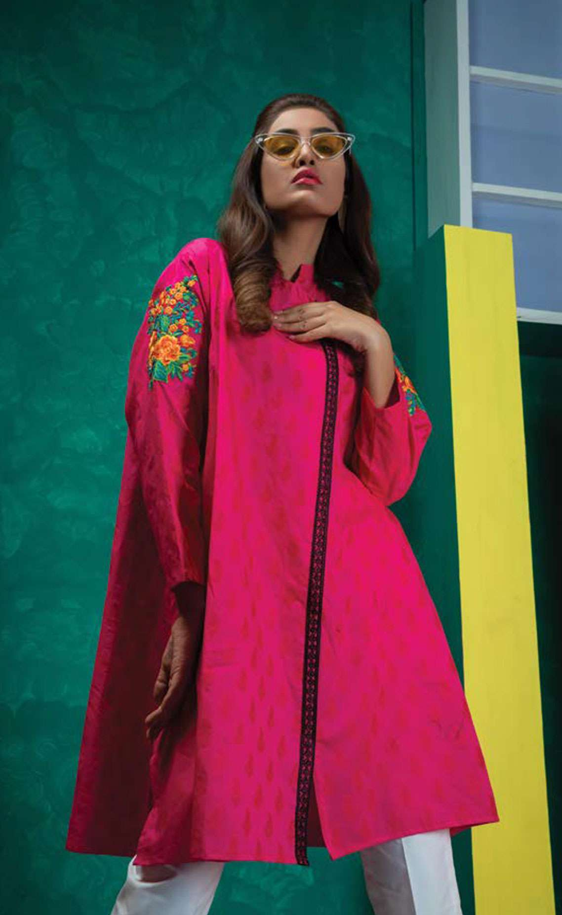 Orient Textile Embroidered Jacquard Unstitched Kurties OT19L 071 Paisley A - Spring / Summer Collection