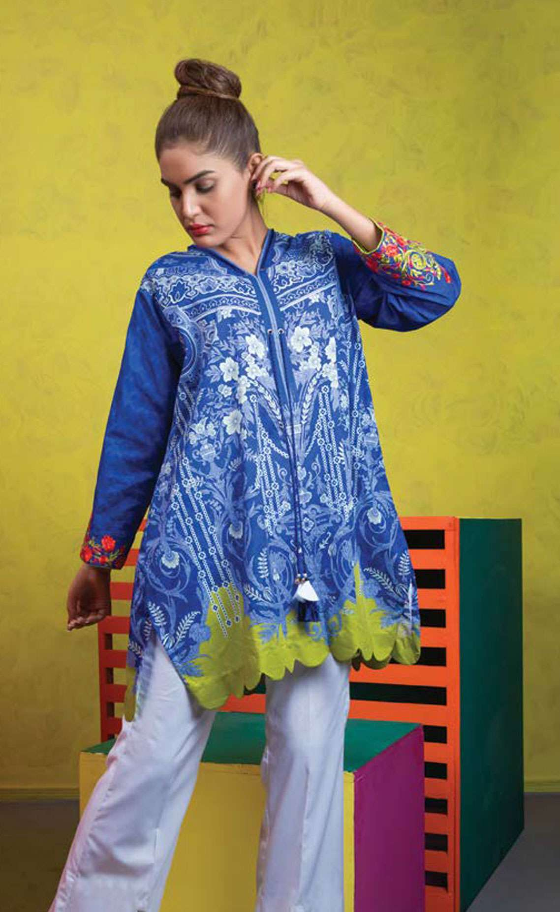 Orient Textile Embroidered Lawn Unstitched Kurties OT19L 086 Envogue A - Spring / Summer Collection