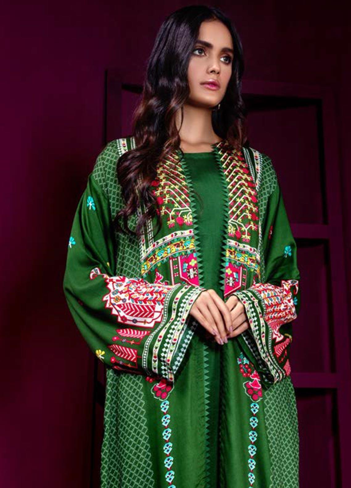 Orient Textile Embroidered Cottel Linen Unstitched Kurties OT19W 177 CARPET STORY A - Winter Collection