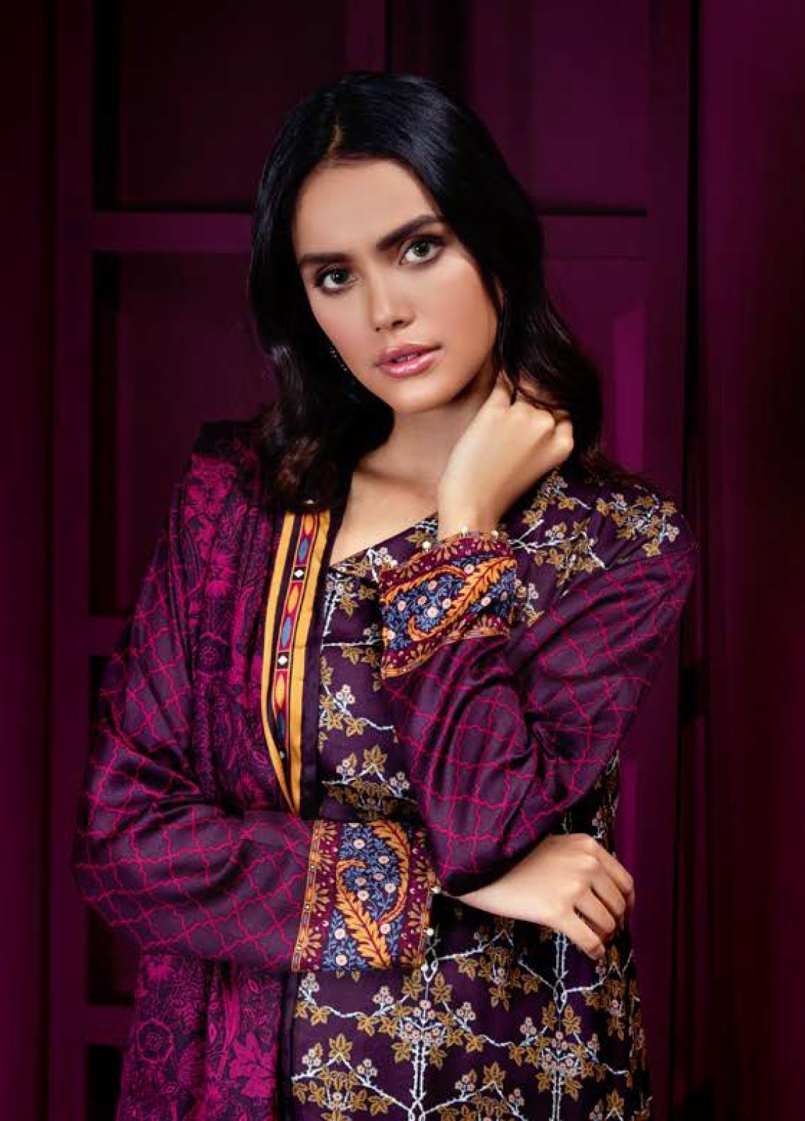 Orient Textile Printed Cottel Linen Unstitched 3 Piece Suit OT19W 208 HEAVEN A - Winter Collection