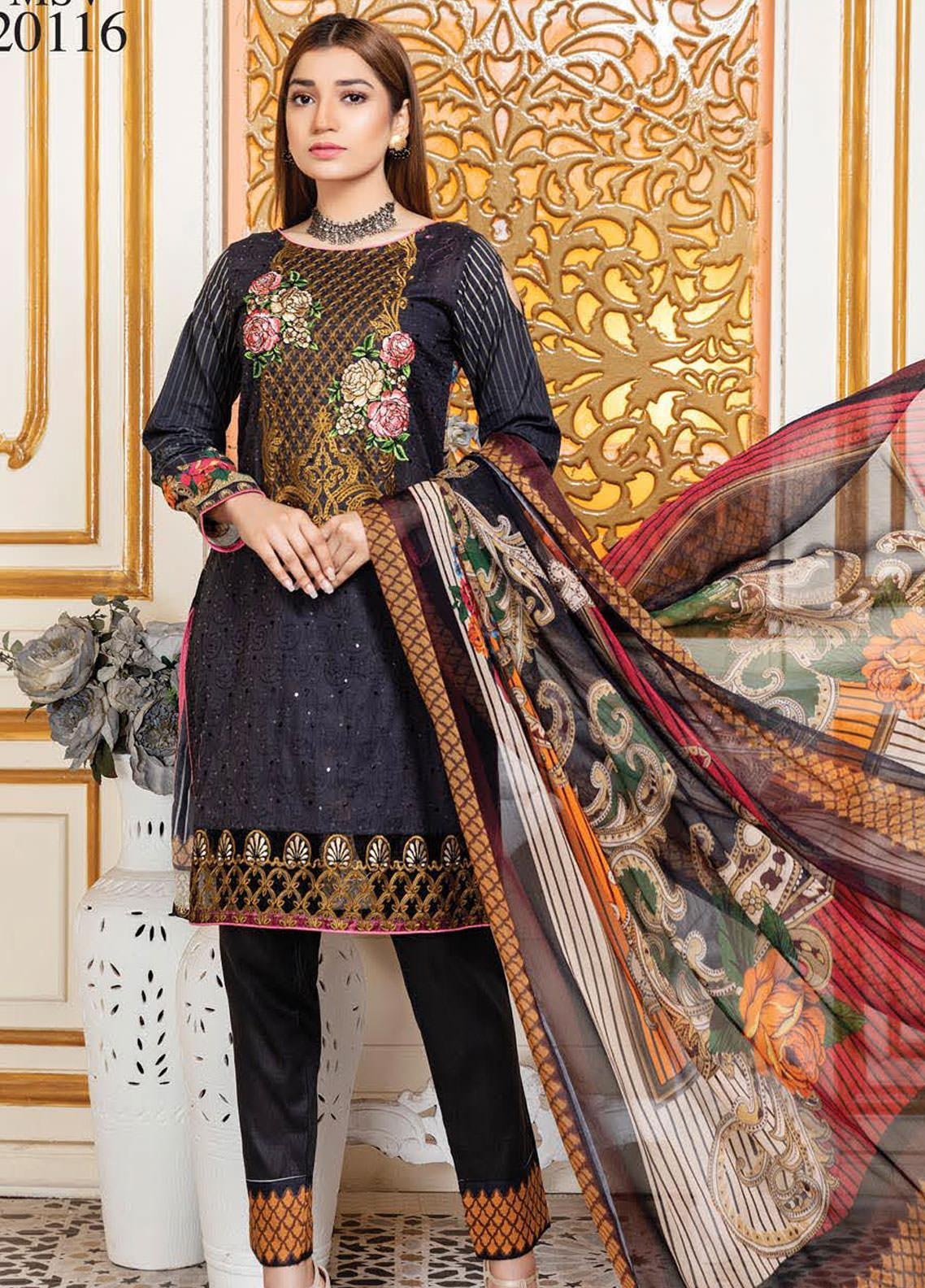 Oriental by Master Fabrics Embroidered Chikankari Lawn Unstitched 3 Piece Suit MFO20 20116 - Spring / Summer Collection