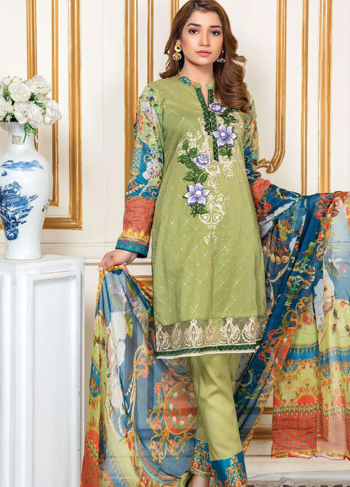 Oriental by Master Fabrics Embroidered Chikankari Lawn Unstitched 3 Piece Suit MFO20 20120 - Spring / Summer Collection