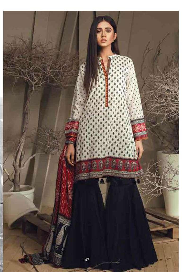 Orient Textile Embroidered Cottle Linen Unstitched 3 Piece Suit OT17W 167A