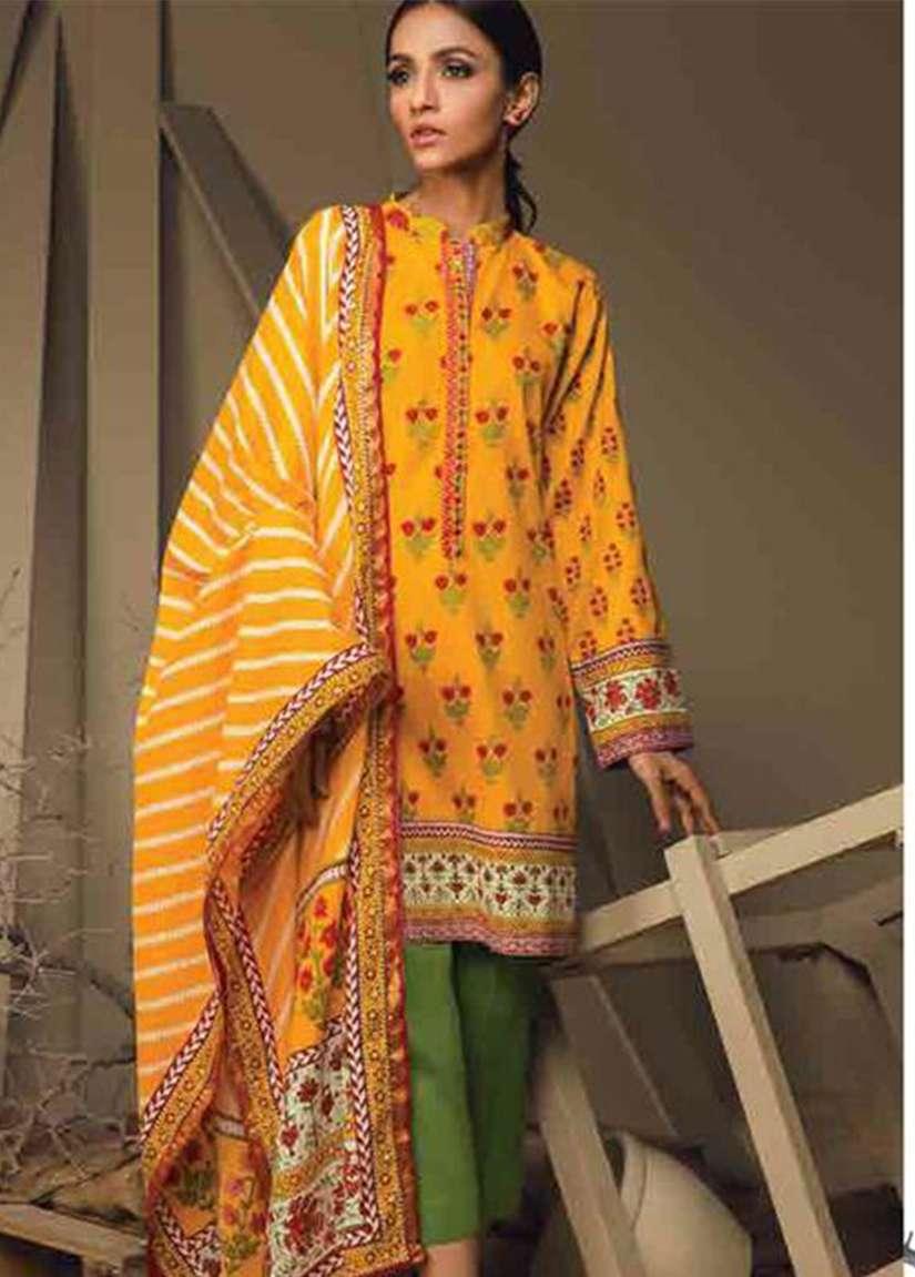 Orient Textile Embroidered Cottle Linen Unstitched 3 Piece Suit OT17W 203B