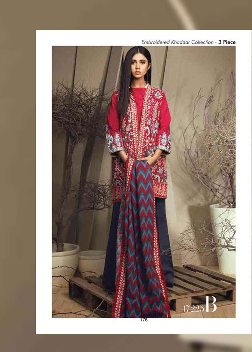 Orient Textile Embroidered Cottle Linen Unstitched 3 Piece Suit OT17W 225B