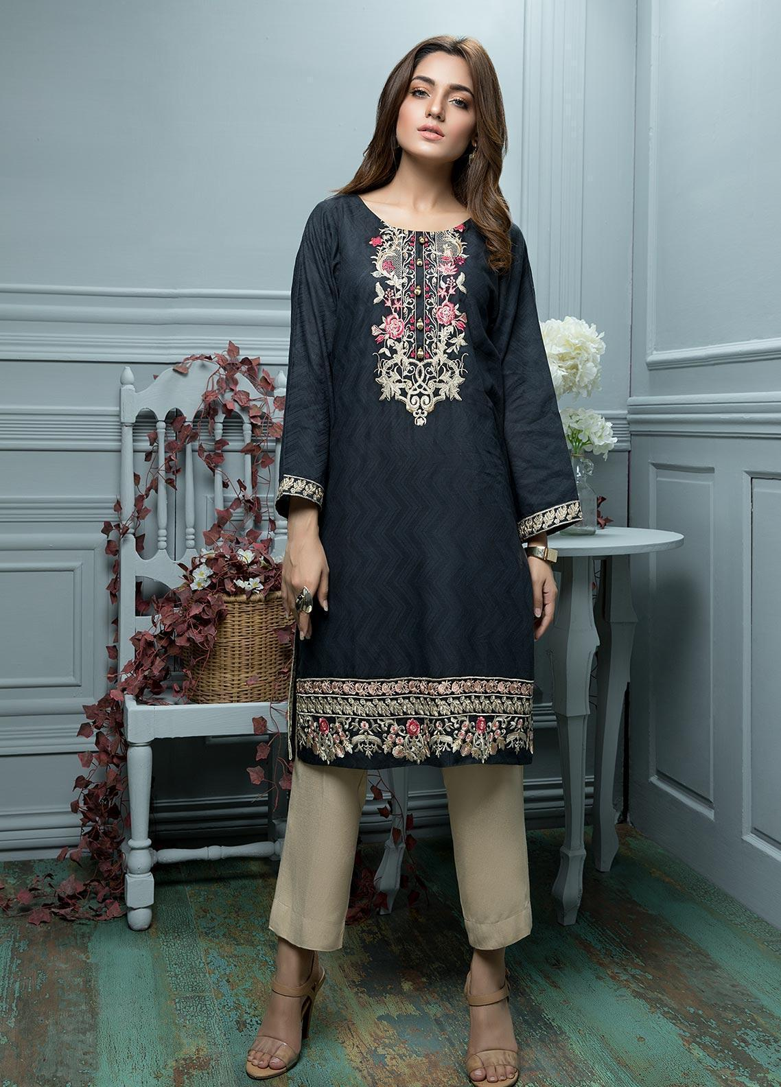 Oture Embroidered  Stitched Kurtis OJES2191044