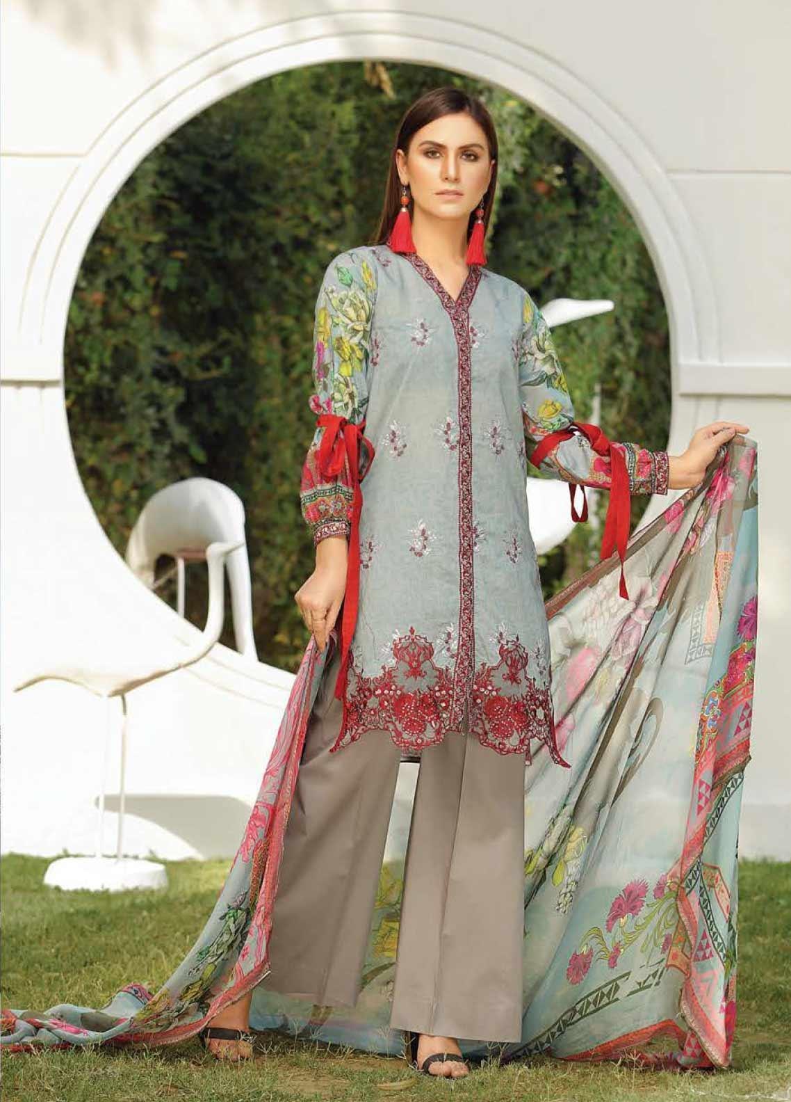 Panache by Puri Fabrics Embroidered Lawn Unstitched 3 Piece Suit PF20DP 4 - Spring / Summer Collection