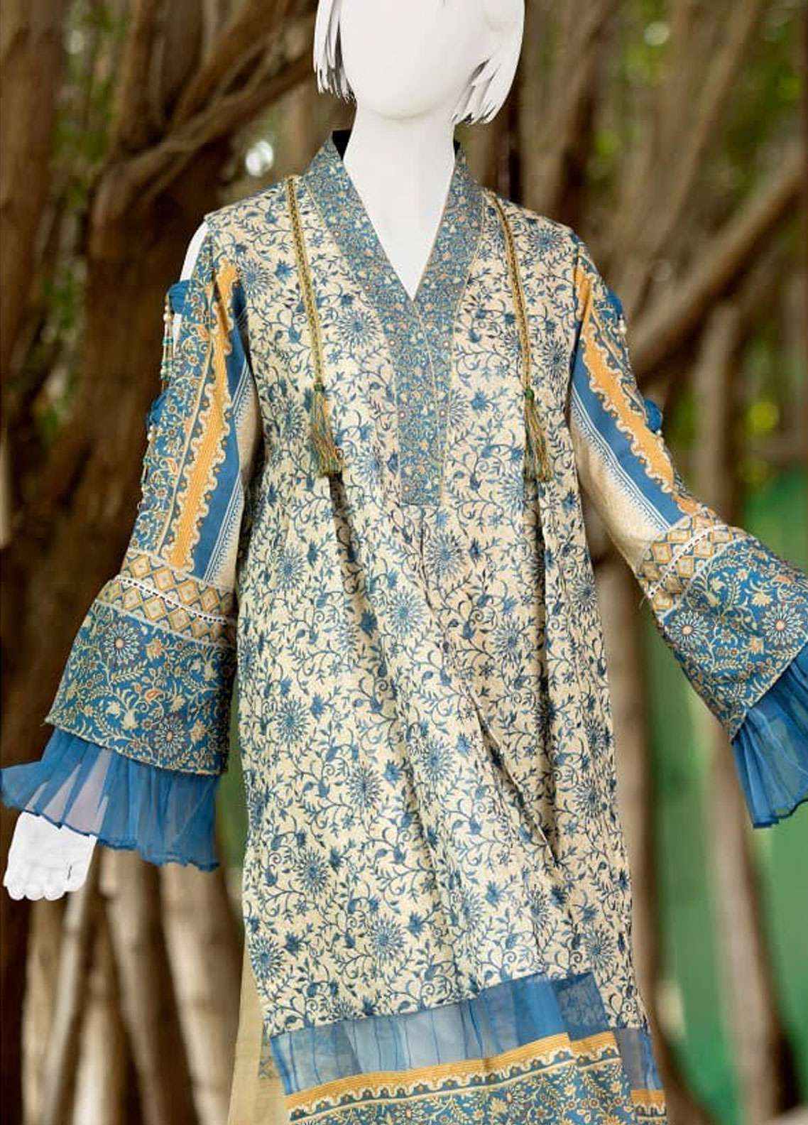 Pearl Closet Embroidered Lawn Unstitched 3 Piece Suit PC19L 19-02 - Spring / Summer Collection
