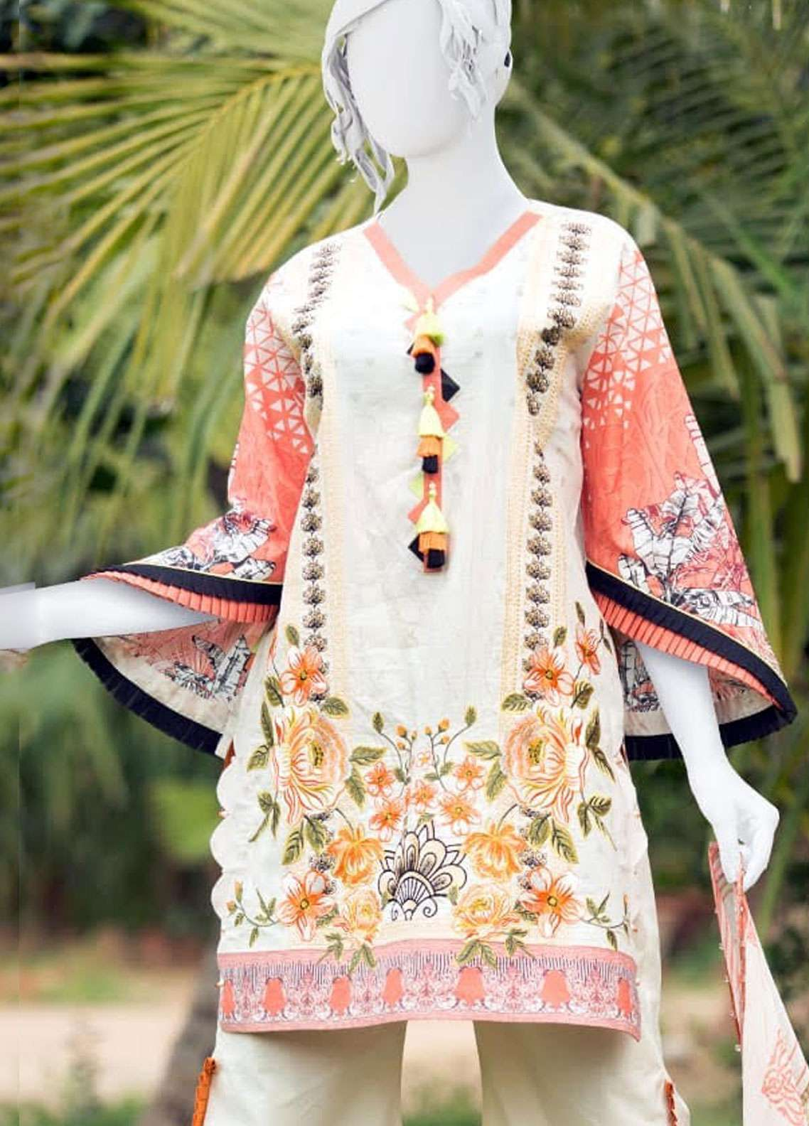 Pearl Closet Embroidered Lawn Unstitched 3 Piece Suit PC19L 19-07 - Spring / Summer Collection