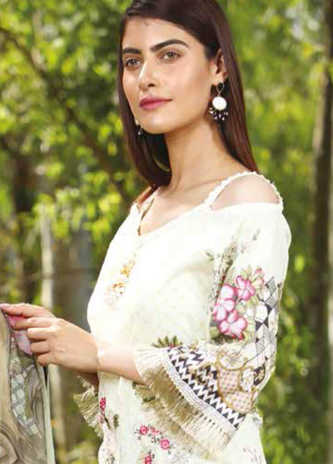 Peridot Embroidered Lawn Unstitched 3 Piece Suit PD19F 7B - Festive Collection