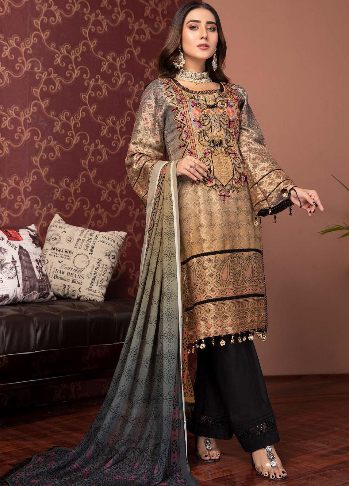Phulkari by Mohagni Embroidered Jacquard Unstitched 3 Piece Suit MO20PH 06 - Formal Collection