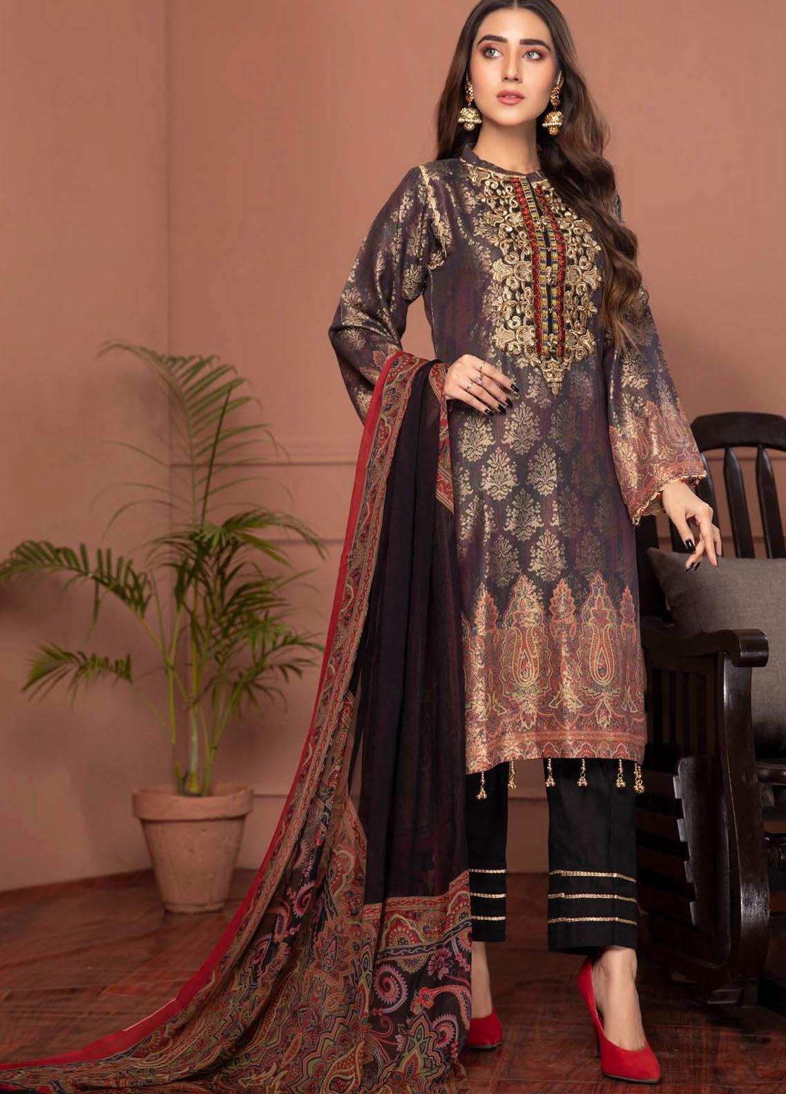 Phulkari by Mohagni Embroidered Jacquard Unstitched 3 Piece Suit MO20PH 08 - Formal Collection