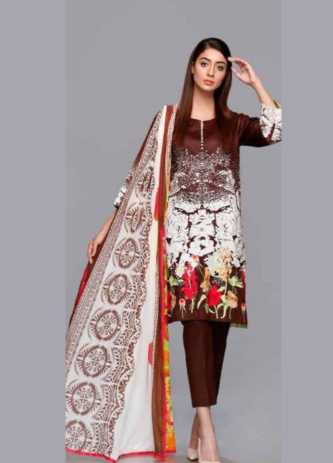Charizma Embroidered Lawn Unstitched 3 Piece Suit CRZ19PG 9A - Mid Summer Collection