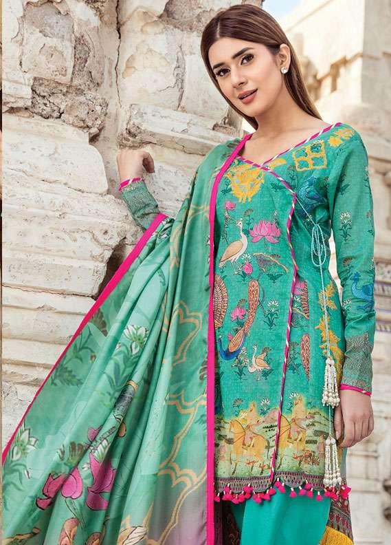 Zehra Saleem Embroidered Lawn Unstitched 3 Piece Suit PN18L 07 - Spring / Summer Collection