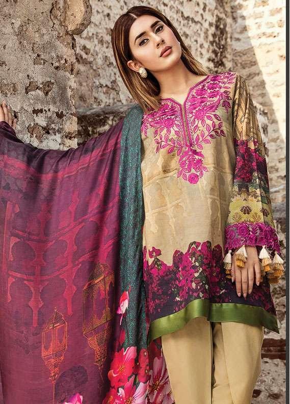 Zehra Saleem Embroidered Lawn Unstitched 3 Piece Suit PN18L 08 - Spring / Summer Collection