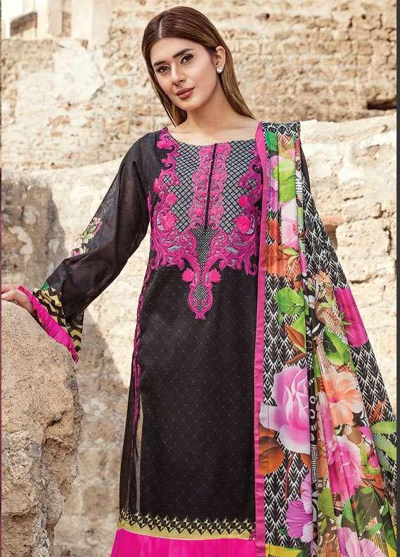 Zehra Saleem Embroidered Lawn Unstitched 3 Piece Suit PN18L 09 - Spring / Summer Collection