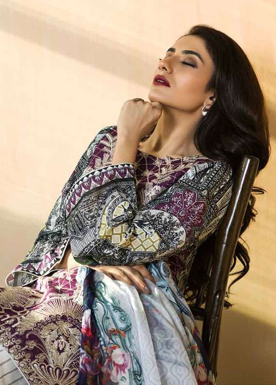 Pehnawa Embroidered Lawn Unstitched 3 Piece Suit PNH18L 01 - Spring / Summer Collection