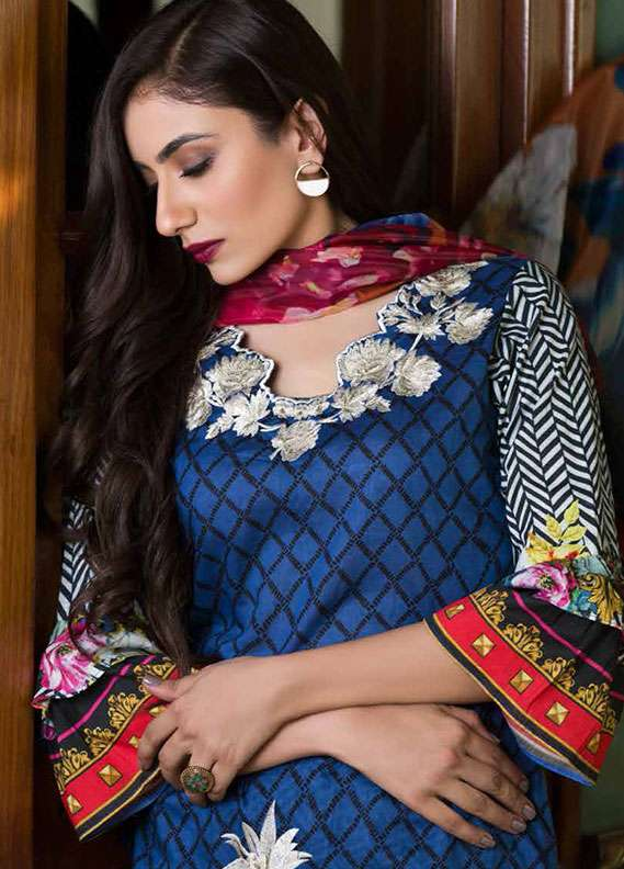 Pehnawa Embroidered Lawn Unstitched 3 Piece Suit PNH18L 03 - Spring / Summer Collection