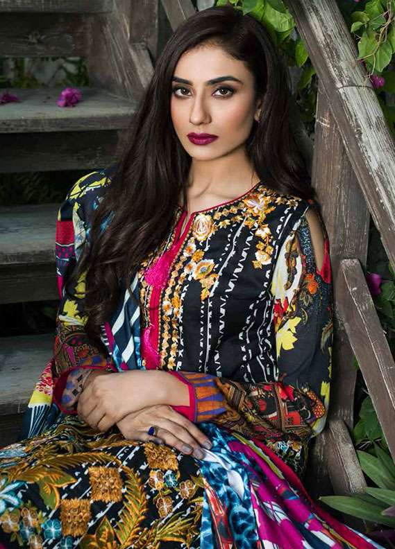 Pehnawa Embroidered Lawn Unstitched 3 Piece Suit PNH18L 06 - Spring / Summer Collection