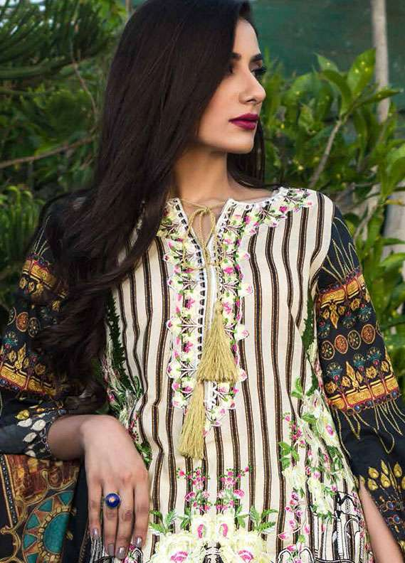 Pehnawa Embroidered Lawn Unstitched 3 Piece Suit PNH18L 07 - Spring / Summer Collection
