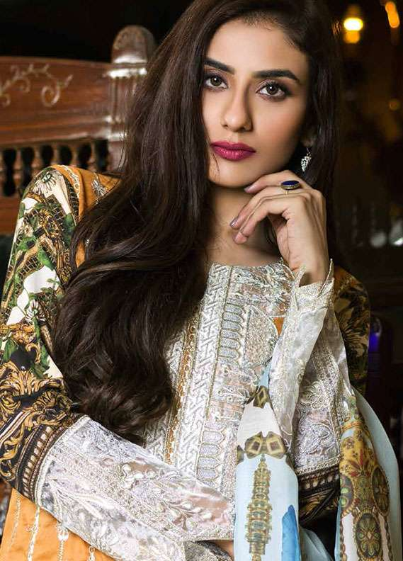 Pehnawa Embroidered Lawn Unstitched 3 Piece Suit PNH18L 09 - Spring / Summer Collection