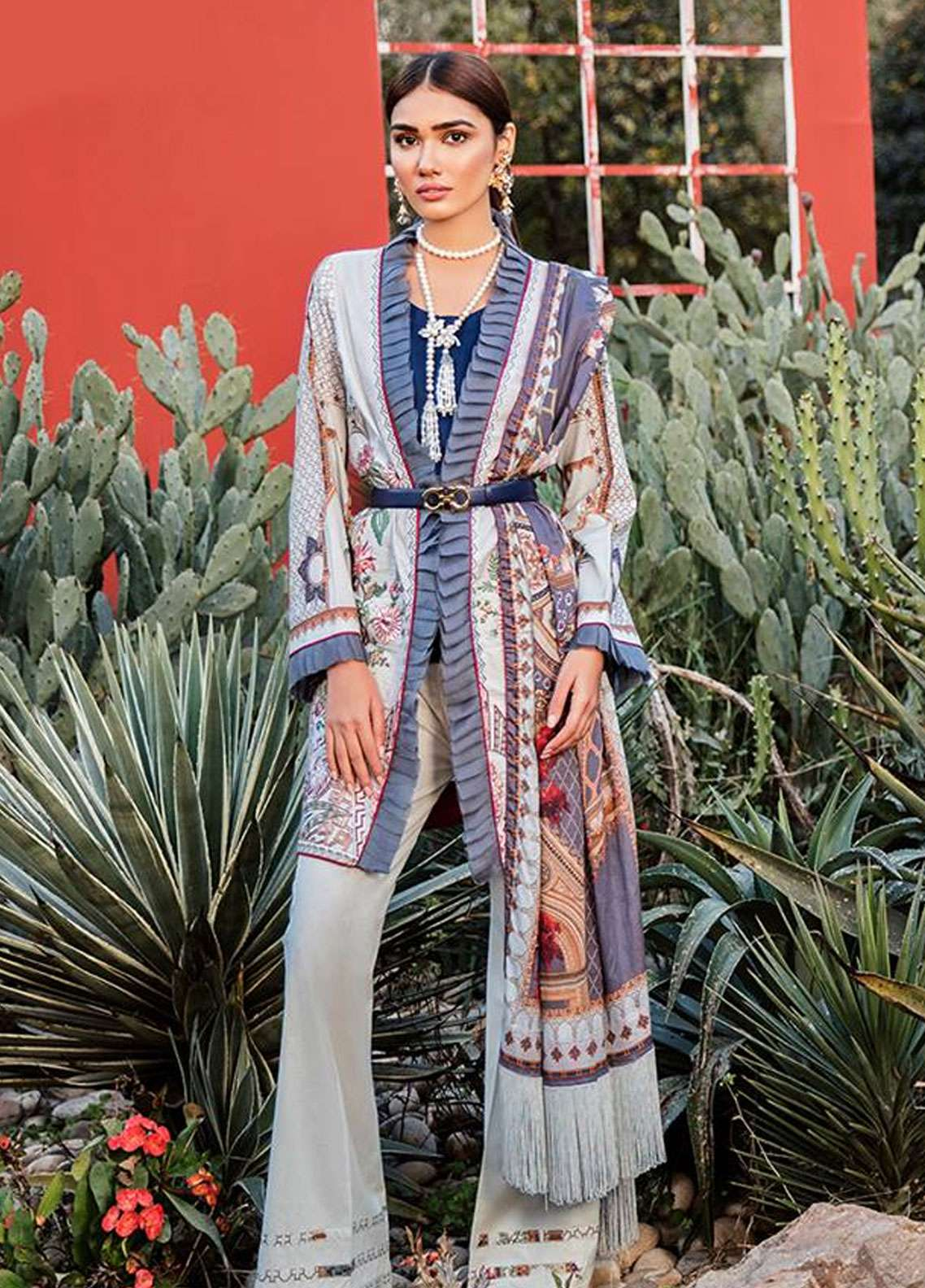 Qalamkar Embroidered Lawn Unstitched 3 Piece Suit QLM19L 7A - Spring / Summer Collection