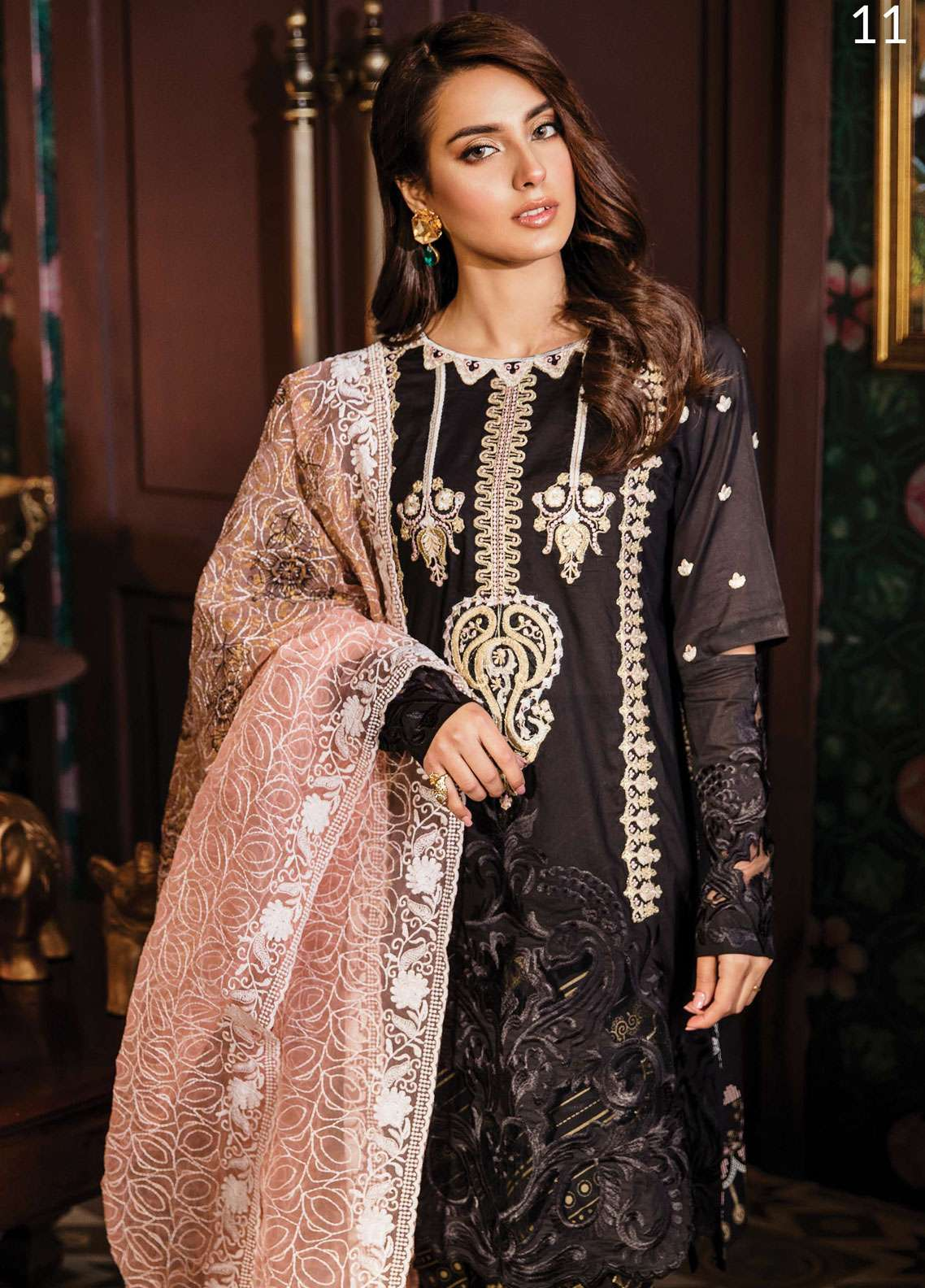 Qalamkar Embroidered Lawn Unstitched 3 Piece Suit QDH19LC 11 Zehresh - Luxury Lawn Collection