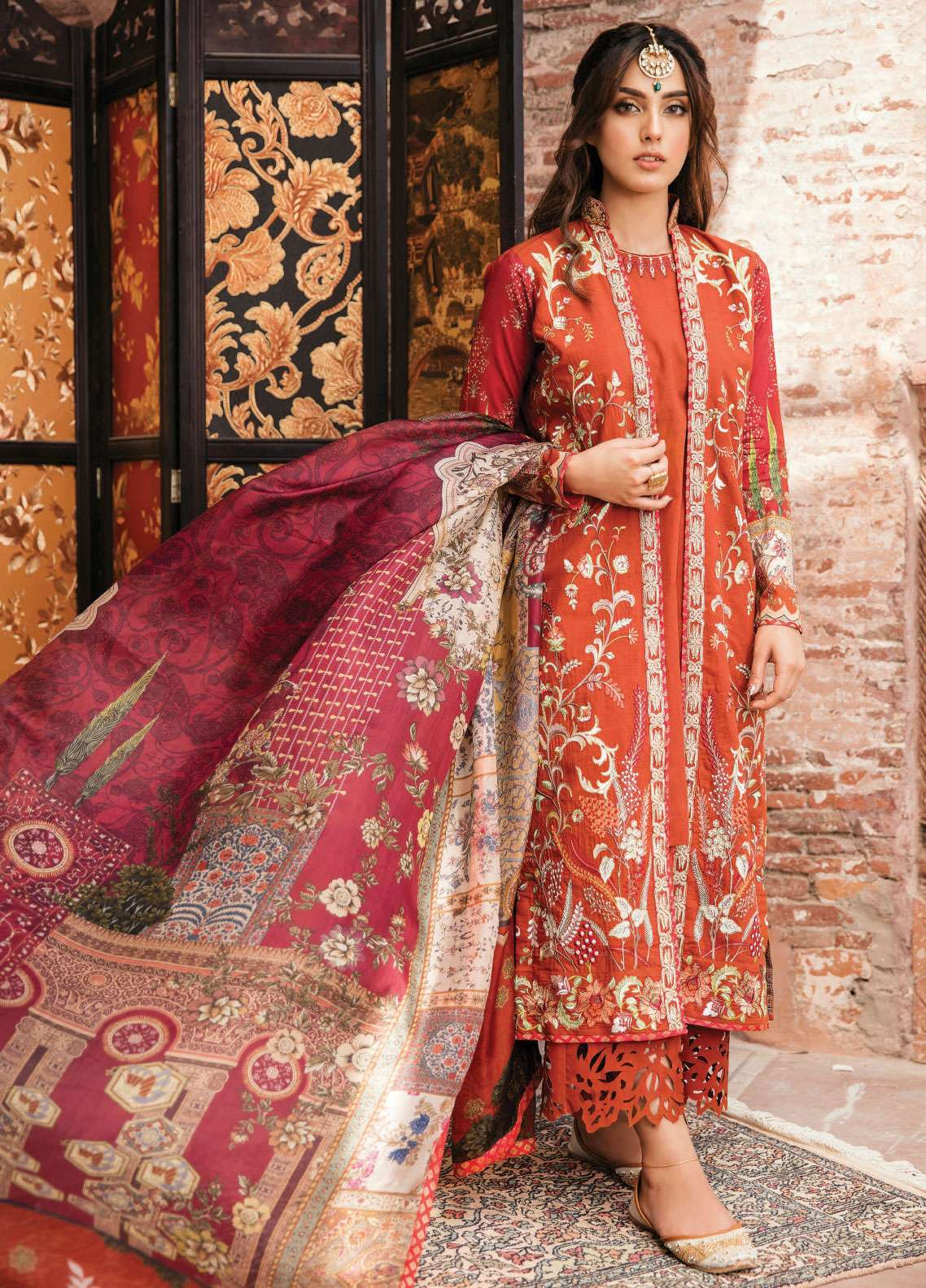 Qalamkar Embroidered Lawn Unstitched 3 Piece Suit QLM19F 01 ADAAB - Festive Collection