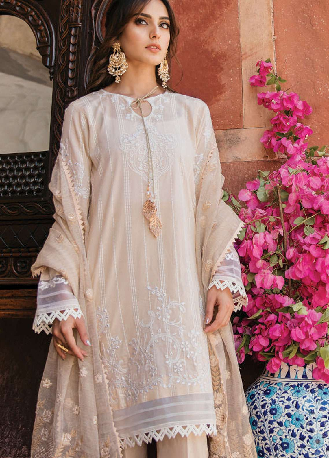 Qalamkar Embroidered Lawn Unstitched 3 Piece Suit QLM19F 09 MAHTOOB - Festive Collection
