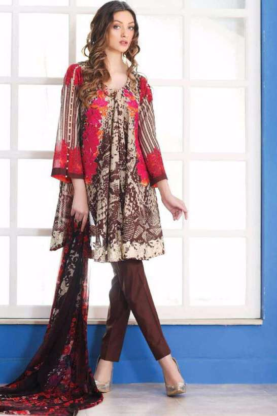 Riaz Arts Embroidered Swiss Voile Unstitched Suit 3 Piece Suit RA17V 15A