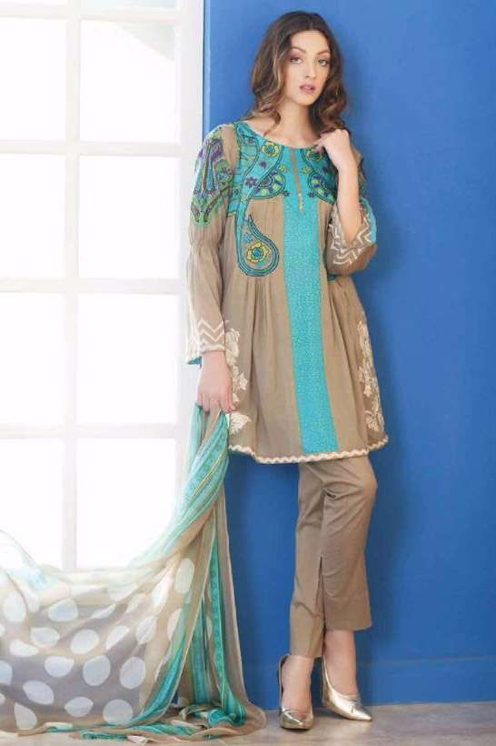 Riaz Arts Embroidered Swiss Voile Unstitched Suit 3 Piece Suit RA17V 16B