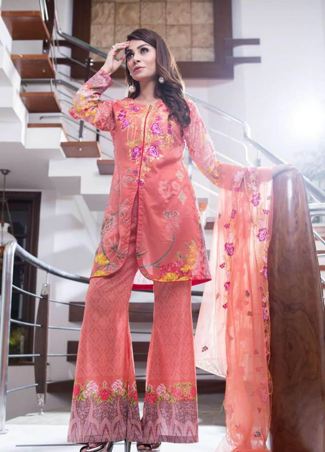 Rabea By Shariq Textiles Embroidered Lawn Unstitched 3 Piece Suit RBA19L 04 - Spring / Summer Collection