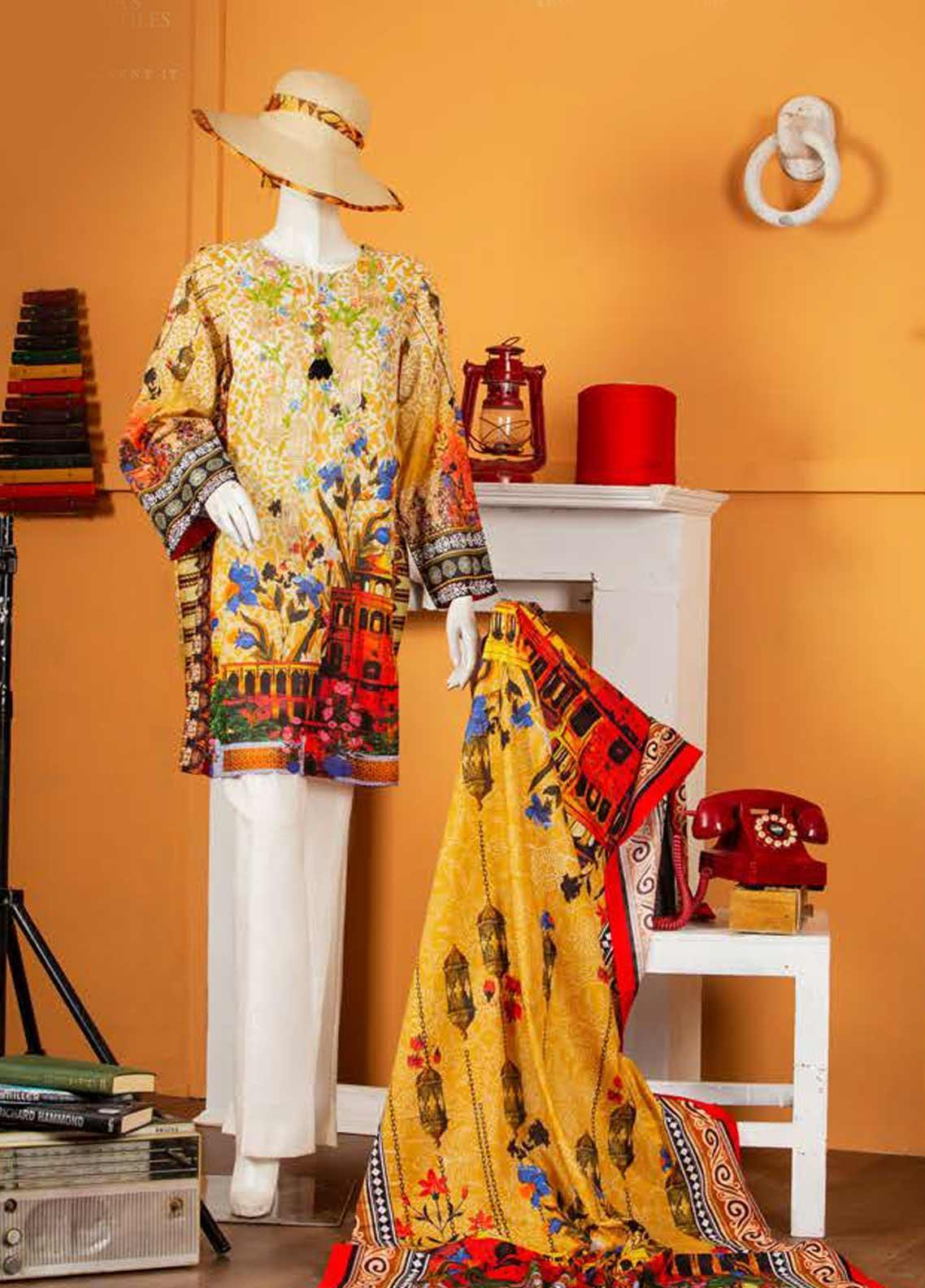Rabia's Textiles Embroidered Lawn Unstitched 3 Piece Suit RBA19S 06 ROYAL GARDEN - Spring / Summer Collection